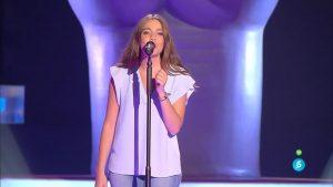 La cantante Cristina en 'La Voz 4'
