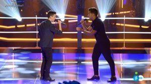 Mario Jiménez y Jesús Reverón en 'Las batallas' de 'La Voz 4'