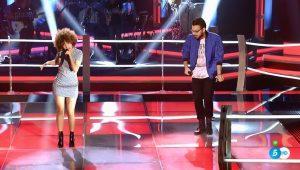 Esmeralda Colette y Omar Xerach en 'Las batallas' de 'La Voz'