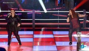 Belinda Falcon y María Cambas se enfrentan en 'La Voz'