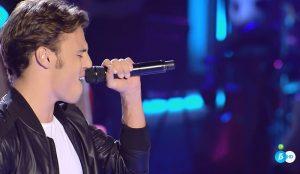 José Díez canta 'Héroe' en 'La Voz'