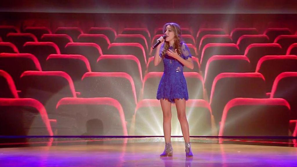Elena alberdi interpreta 39 i 39 ll be there 39 en 39 los directos - Elena alberdi ...